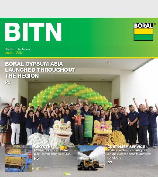 Boral News Issue 1, 2012